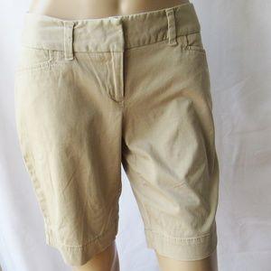 The Limited Drew Fit Khaki Bermuda Walking Shorts